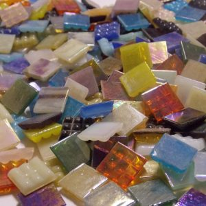 Mixed Pearl - Mosaic Glass Tiles 1.5cm x 1.5cm x 4mm