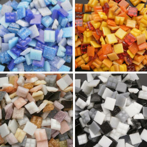 Mosaic Glass Tiles from Asia 1cm x 1cm