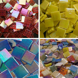 Mosaic Glass Tiles from Asia 1.5cm x 1.5cm