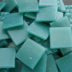 Teal Green - Mosaic Glass Tiles 2cm x 2cm x 4mm (C10)