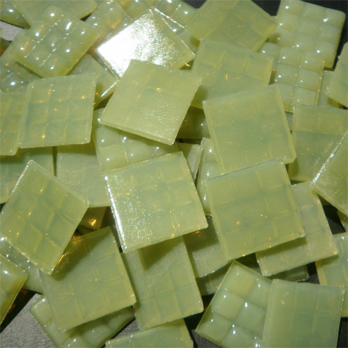 Lime Grey Green - Mosaic Glass Tiles 2cm x 2cm x 4mm (A19)