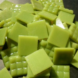 Lime Green - Mosaic Glass Tiles 2cm x 2cm x 4mm (A23)