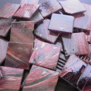 Red Purple - Mosaic Glass Tiles 2cm x 2cm x 4mm (G224)