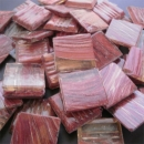 Clear Red Brown - Mosaic Glass Tiles 2cm x 2cm x 4mm (G223)