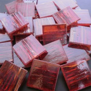Red - Mosaic Glass Tiles 2cm x 2cm x 4mm (G222)