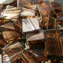 Dark Brown - Mosaic Glass Tiles 2cm x 2cm x 4mm (G219)