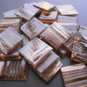 Golden Brown - Mosaic Glass Tiles 2cm x 2cm x 4mm (G218)
