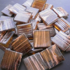 Light Brown - Mosaic Glass Tiles 2cm x 2cm x 4mm (G217)