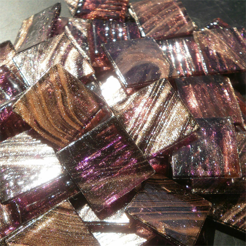 Light Purple - Mosaic Glass Tiles 2cm x 2cm x 4mm (G215)