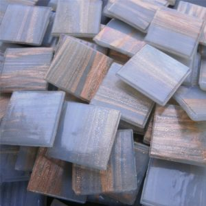 Grey- Mosaic Glass Tiles 2cm x 2cm x 4mm (G213)
