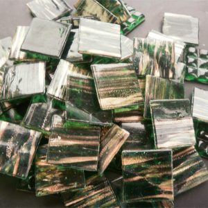 Dark Green - Mosaic Glass Tiles 2cm x 2cm x 4mm (G211)