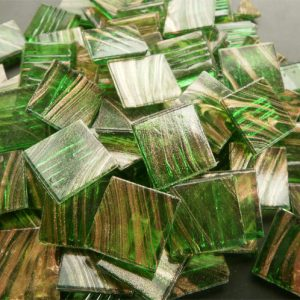 Mid Green - Mosaic Glass Tiles 2cm x 2cm x 4mm (G210)