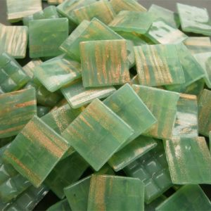 Light Green - Mosaic Glass Tiles 2cm x 2cm x 4mm (G209)