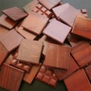 Brick Red Marbled - Mosaic Glass Tiles 2cm x 2cm x 4mm (D45)