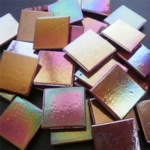Pearl Maroon - Mosaic Glass Tiles 2cm x 2cm x 4mm (E 952)