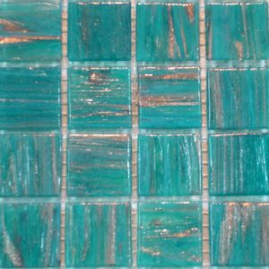 Varigated Teal Green VTC20.67(4) - Le Gemme Mosaic Glass Tiles