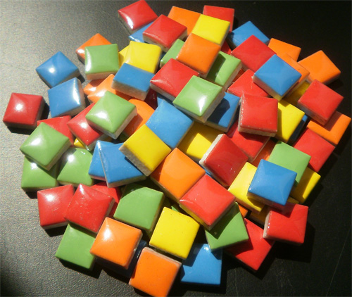 Santa Fe Mix - Mosaic Ceramic Tiles 1cm x 1cm x 4mm (Micro Ceramic Santa Fe Blend)