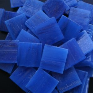 Electric Blue - Mosaic Glass Tiles 2cm x 2cm x 4mm (E735)