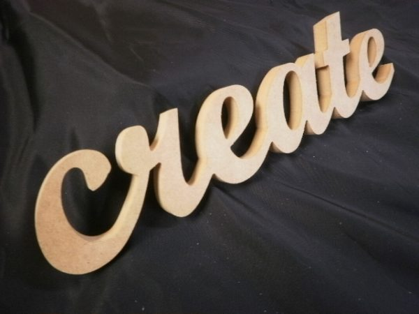 Create - Wooden MDF Script Word