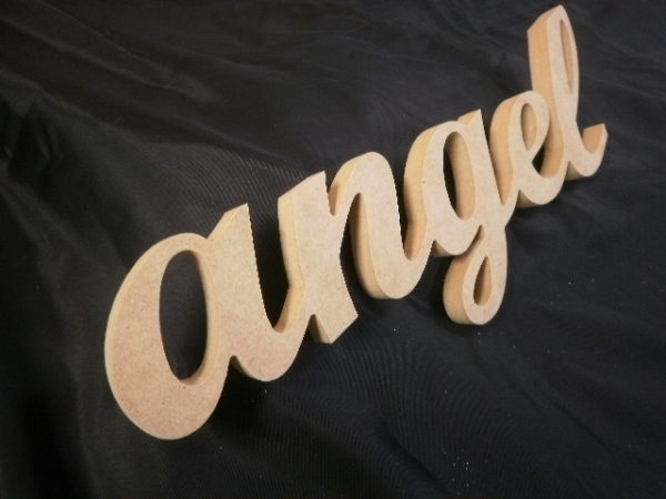 Angel - Wooden MDF Script Word