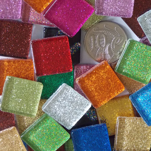 Glitter Mix - Mosaic Glitter Tiles 2cm x 2cm x 4mm