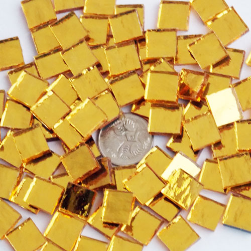 Gold - Mosaic Mirror Tiles 1cm x 1cm