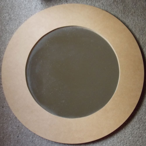 Wooden MDF Medium Round Mirror