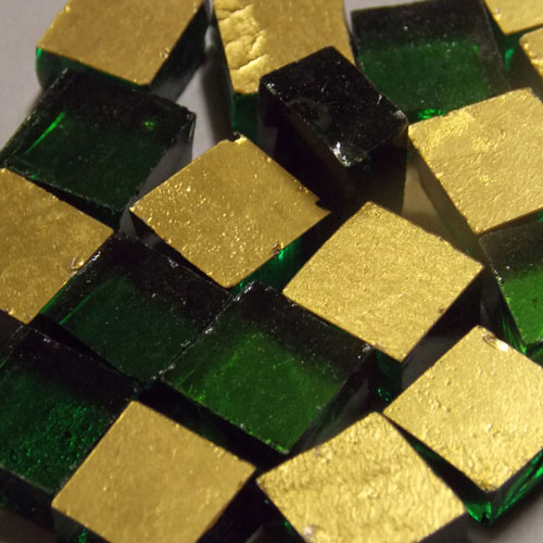 24kt Yellow Gold Smooth Mosaic Tiles 1cm x 1cm
