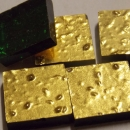 24kt Yellow Gold Ruffled Mosaic Tiles 2cm x 2cm