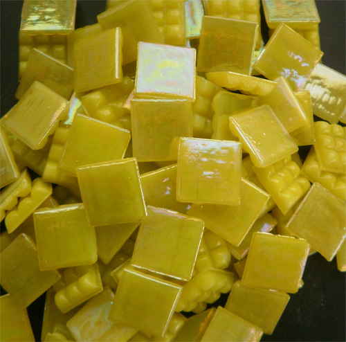 Mosaic Glass tiles from Asia 1.5cm x 1.5cm -  Yellow (P321)
