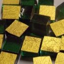 24kt Yellow Gold Antique Mosaic Tiles 1cm x 1cm