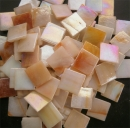 Mosaic Glass tiles from Asia 1.5cm x 1.5cm -  Apricot Marble (P320)
