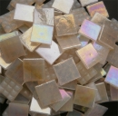 Mosaic Glass tiles from Asia 1.5cm x 1.5cm -  Off White Marble (P319)