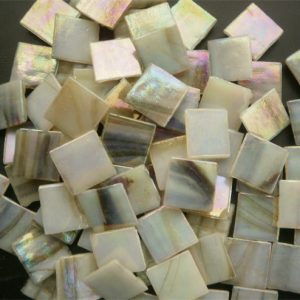 Mosaic Glass tiles from Asia 1.5cm x 1.5cm -  Brown Marble (P318)