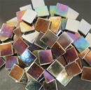 Mosaic Glass tiles from Asia 1.5cm x 1.5cm - Black Rainbow (P315)