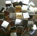 Mosaic Glass tiles from Asia 1.5cm x 1.5cm - Silver Gold (P314)
