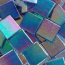 P313 - Deep Sea Blue - Mosaic Glass Tiles 1.5cm x 1.5cm x 4mm