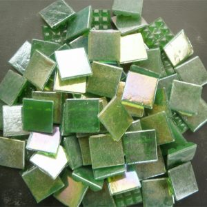Mosaic Glass tiles from Asia 1.5cm x 1.5cm - Dark Green (P311)