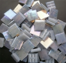 Mosaic Glass tiles from Asia 1.5cm x 1.5cm - Light Grey (P309)