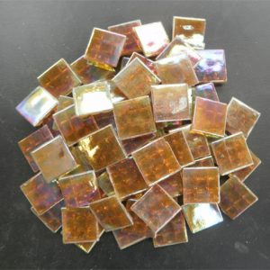 Mosaic Glass tiles from Asia 1.5cm x 1.5cm - Golden Brown (P304)