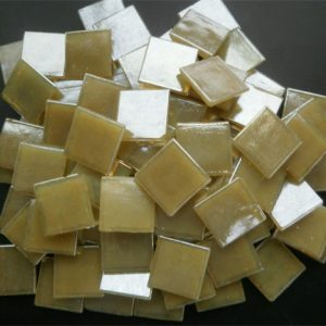 Mosaic Glass tiles from Asia 1.5cm x 1.5cm - Beige (P303)