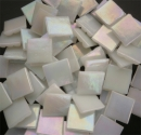 Mosaic Glass tiles from Asia 1.5cm x 1.5cm - White (P301)