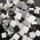 Mosaic Glass tiles from Asia 1cm x 1cm - Greyscale