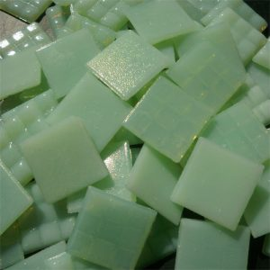 Green - Mosaic Glass Tiles 2cm x 2cm x 4mm (A32)