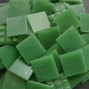 Green - Mosaic Glass Tiles 2cm x 2cm x 4mm (B26)