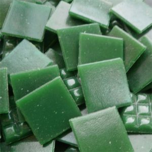 Dark Green - Mosaic Glass Tiles 2cm x 2cm x 4mm (C15)