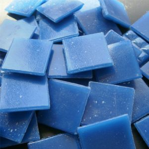 Blue - Mosaic Glass Tiles 2cm x 2cm x 4mm (C81)