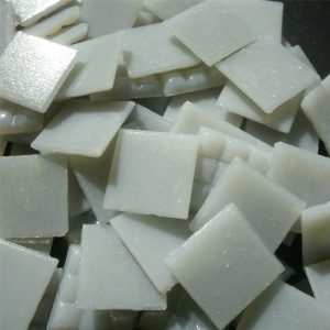 Light Grey - Mosaic Glass Tiles 2cm x 2cm x 4mm (A05)