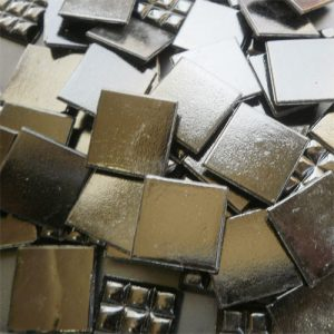Black - Mosaic Glass Tiles 2cm x 2cm x 4mm (C39)