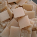 Light Pink Skin Tone - Mosaic Glass Tiles 2cm x 2cm x 4mm (B84)